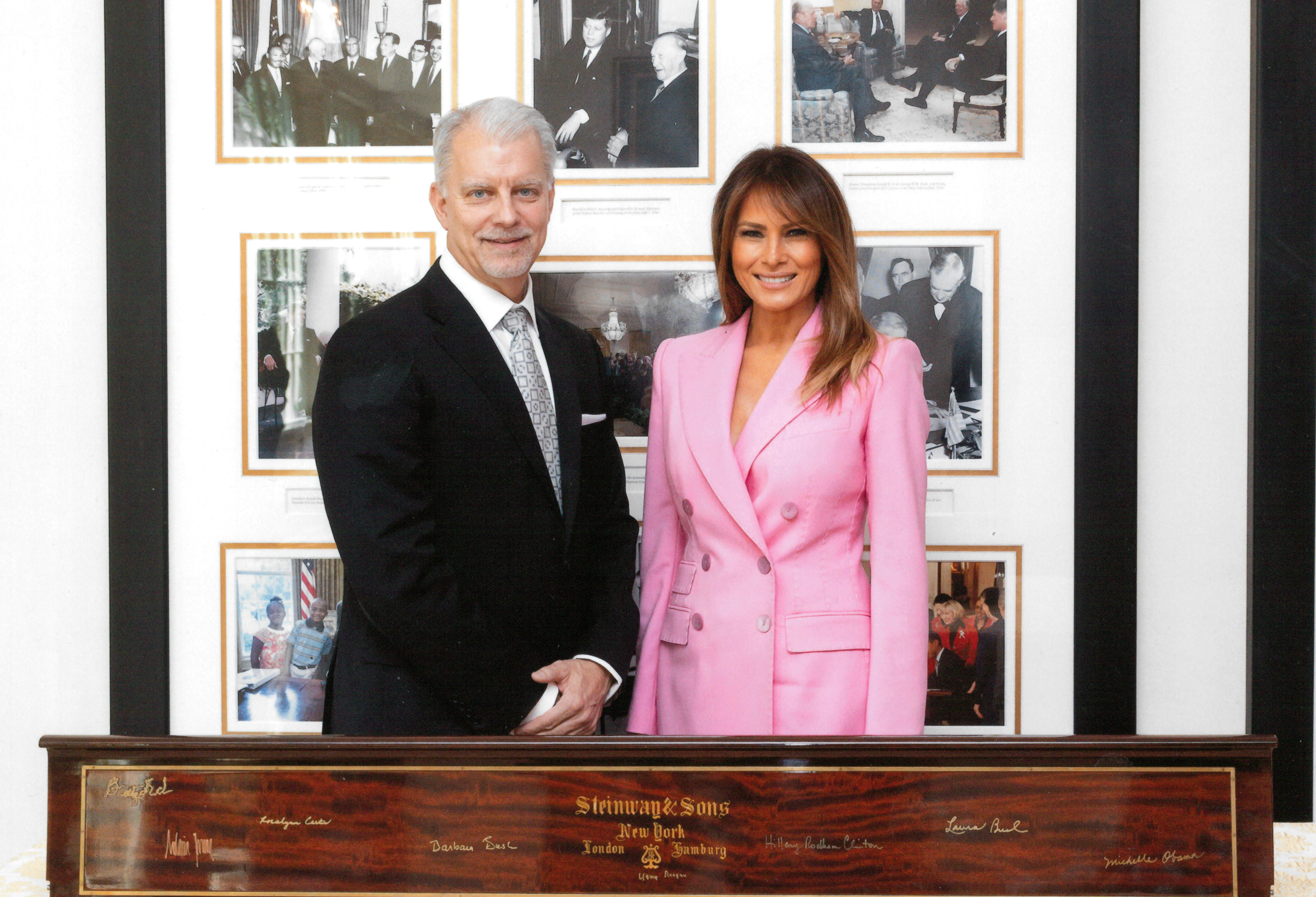Melania Trump signs 'First Ladies' piano