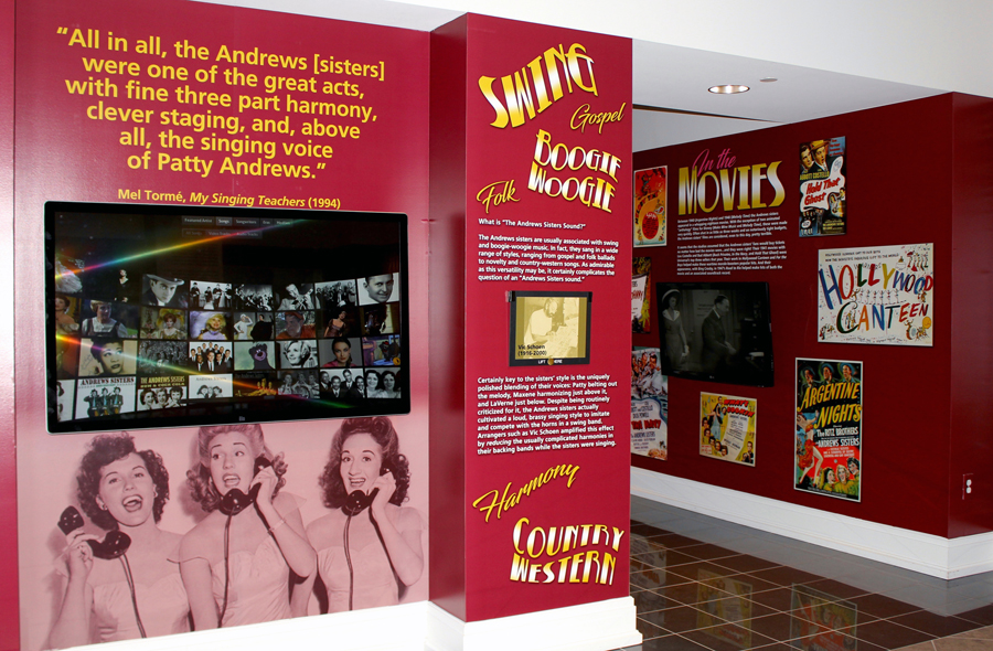Andrews Sisters exhibit
