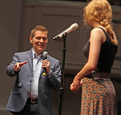 Michael Feinstein and Student