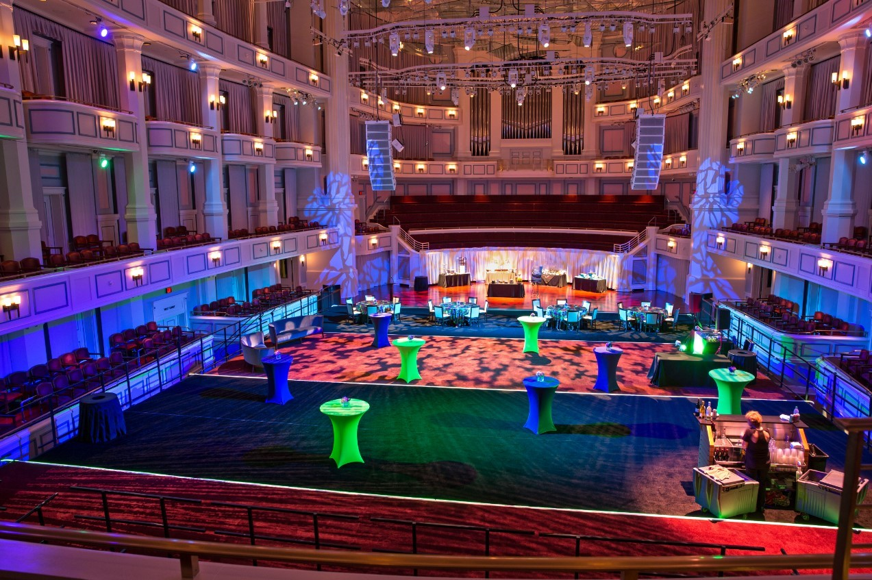 The interior of the Palladium with the Festival Floor installed